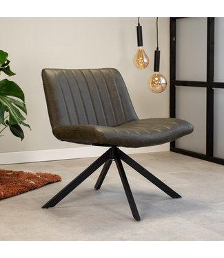 Dimehouse Draaibare fauteuil industrieel Leon groen