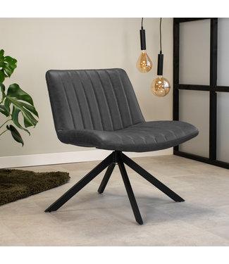 Dimehouse Draaibare fauteuil industrieel Leon antraciet
