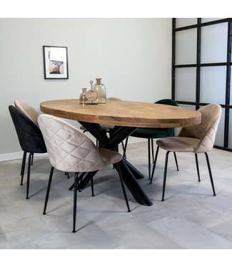 Dimehouse Table Salle A Manger Industrielle Detroit 220x107 cm