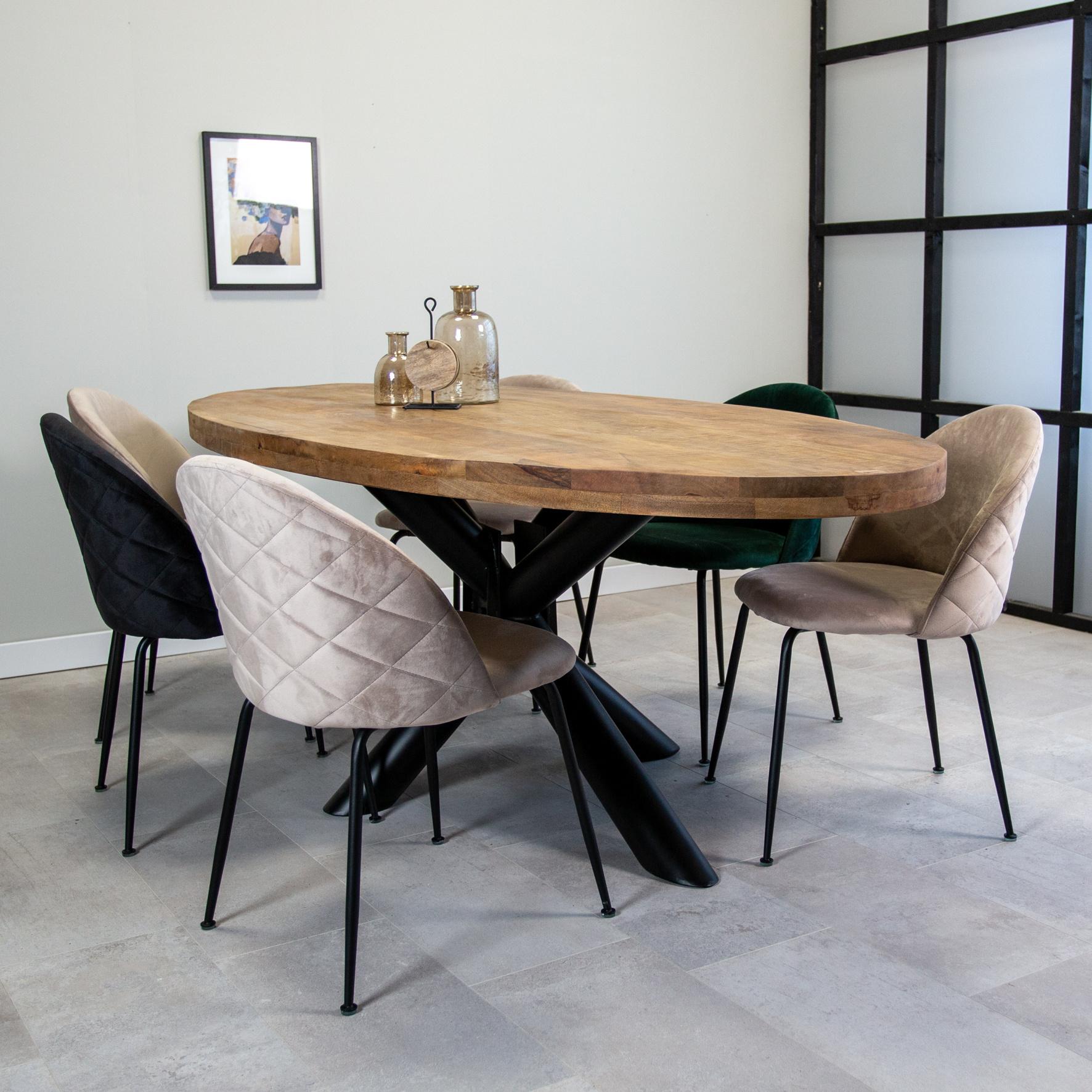 Table A Manger Industrielle Ovale 5x5 cm I Livraison gratuite