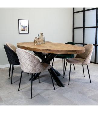 Dimehouse Table Salle A Manger Industrielle Detroit 240x117 cm