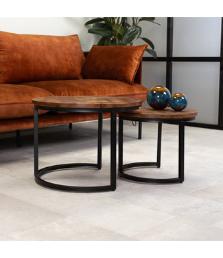 Dimehouse Table Basse Ronde Double Plateau - Calla