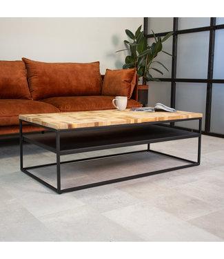 Salontafel industrieel teakhout Ruby 60x120 cm