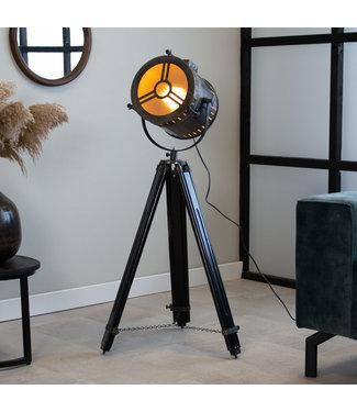 Dimehouse Industriële vloerlamp Finn grijs driepoot