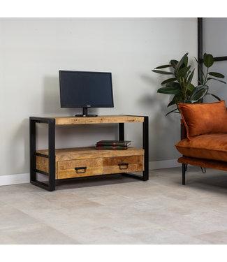 Dimehouse Industrieel TV-meubel Domburg Mangohout 100 cm