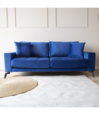 Dimehouse Industriële 3-zitsbank Brooks velvet blauw