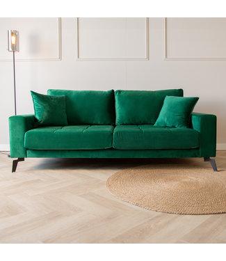 Dimehouse Industriële 3-zitsbank Brooks velvet groen