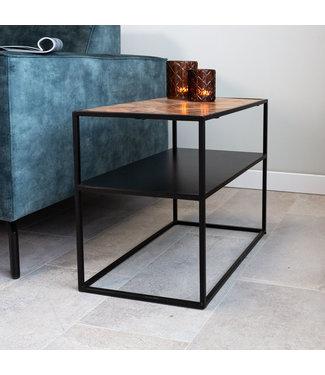 Dimehouse Table De Chevet Industrielle Bois 40x40 cm Valerie