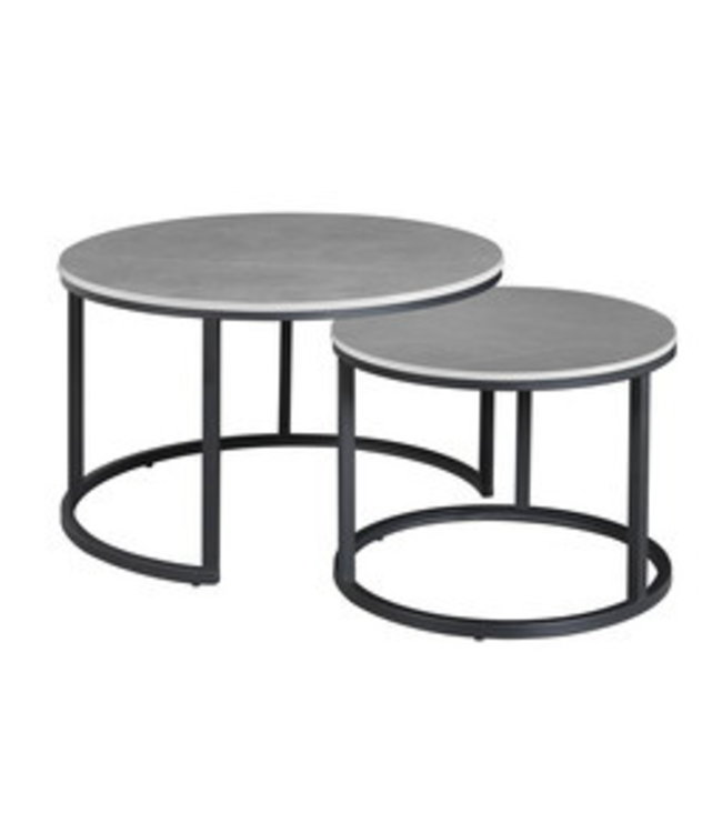 Table Basse Industrielle Marbre Gris Trevor