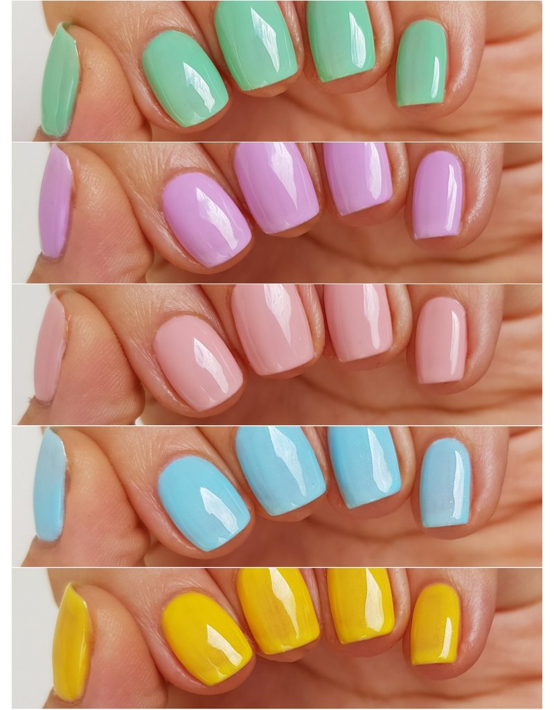 CARMA   Rainbow Macarons Gelpolish 5pcs Set