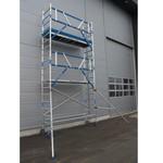 ASC Echafaudage roulant 75x305 Pro 6,2 m hauteur travail garde-corps MDS
