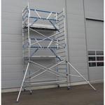 ASC Echafaudage roulant 135x250 Pro 6,2 m hauteur travail garde-corps MDS