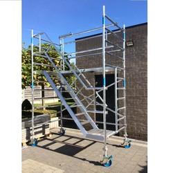 Echafaudage d'escaliers 135 x 250 hauteur travail 4 m