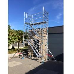 Echafaudage d'escaliers 135 x 250 hauteur travail 6 m