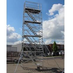 Echafaudage d'escaliers 135 x 250 hauteur travail 12 m