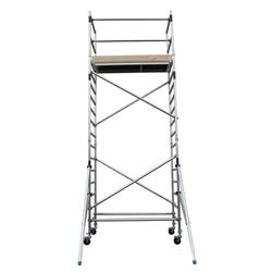 Echafaudage roulant Basic-Line hauteur de travail 6,3 m (type 1.0)