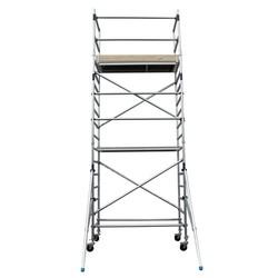 Echafaudage roulant Basic-Line hauteur de travail 6,3 m (type 2.0)