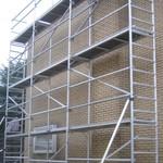 ASC Echafaudage de facade 0,75 m x 5,00 m x 6,00 m