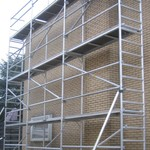 ASC Echafaudage de facade 0,75 m x 9,15 m x 14,00 m