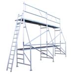 ASC Echafaudage de rénovation 8 x 5 m hauteur de travail