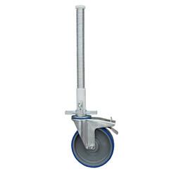 ASC roue 200 mm avec socle en acier 375 kg polyamide