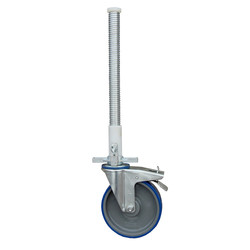 ASC steigerwiel 200 mm met stalen spindel 375 kg kunststof