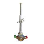 ASC Roue 125 mm avec socle en acier polyamide