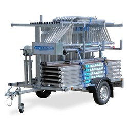 Echafaudage roulant MDS 135 x 250  x 10 m + remorque