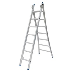 Solide omvormbare ladder 2x7 sporten
