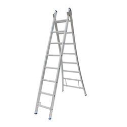 Solide omvormbare ladder 2x8 sporten