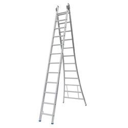 Solide omvormbare ladder 2x14 sporten