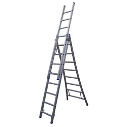 Solide omvormbare ladder 3x8 sporten