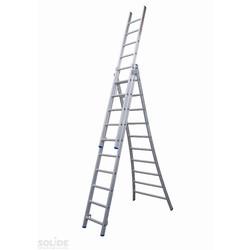 Solide omvormbare ladder 3x10 sporten