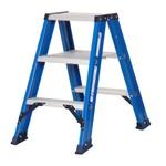 Das Ladders Das Hercules blue dubbele trap 2x3 treden DT3B