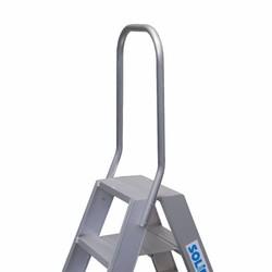 Garde-corps fixe pour escabeau double Solide