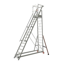 Tubesca 2271 escalier de rayonnage 15 marches