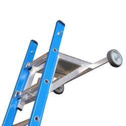Ladder muurafhouder aluminium met traanplaat
