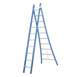 Echelle 2 plans 2x10 échelons Das Ladders Atlas blue