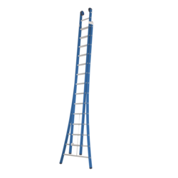 Das Ladders Atlas blue 2-delige ladder 2x14 sporten