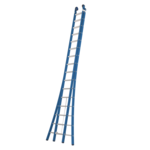 Das Ladders Das Ladders Atlas blue 2-delige ladder 2x16 sporten