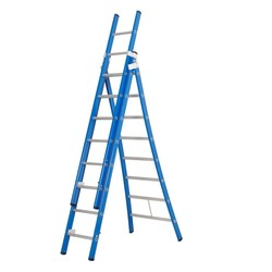 Echelle 3 plans 3x8 échelons Das Ladders Atlas blue