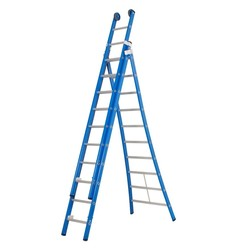 Echelle 3 plans 3x10 échelons Das Ladders Atlas blue