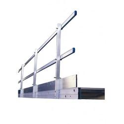 Solide passerelle en aluminium 7,20 m