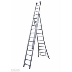 Solide omvormbare ladder 3x12 sporten