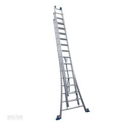 Solide omvormbare ladder 3x14 sporten
