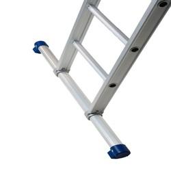 Solide ladder 3x18 sporten recht met stabilisatiebalk