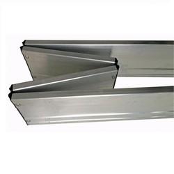 Plinthe d'échafaudage roulant en aluminium à charnière