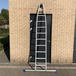 Solide échelle laveur de vitre 1x10 échelons