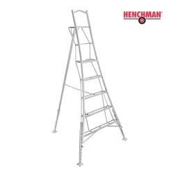 Henchman echelle trépied 240 cm avec plate-forme et 3 pieds réglables