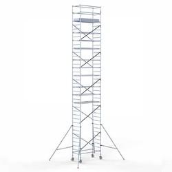 Echafaudage roulant 90 x 190 x 12,2 m hauteur travail